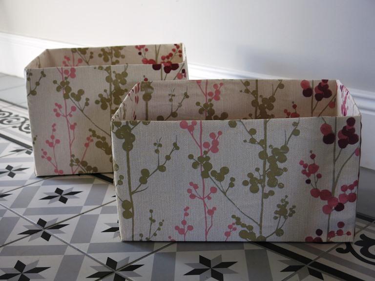 décorer une boîte avec du papier peint