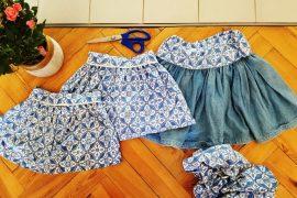 jupes cousues avec robe vintage