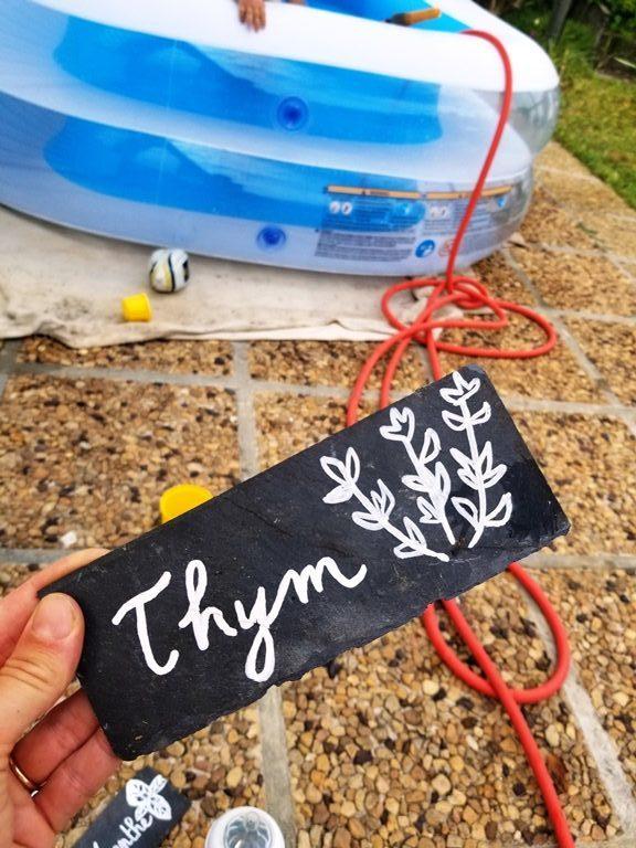 créer des étiquettes en ardoise DIY
